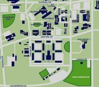 Auburn University Campus Map Auburn University Physics Google Map