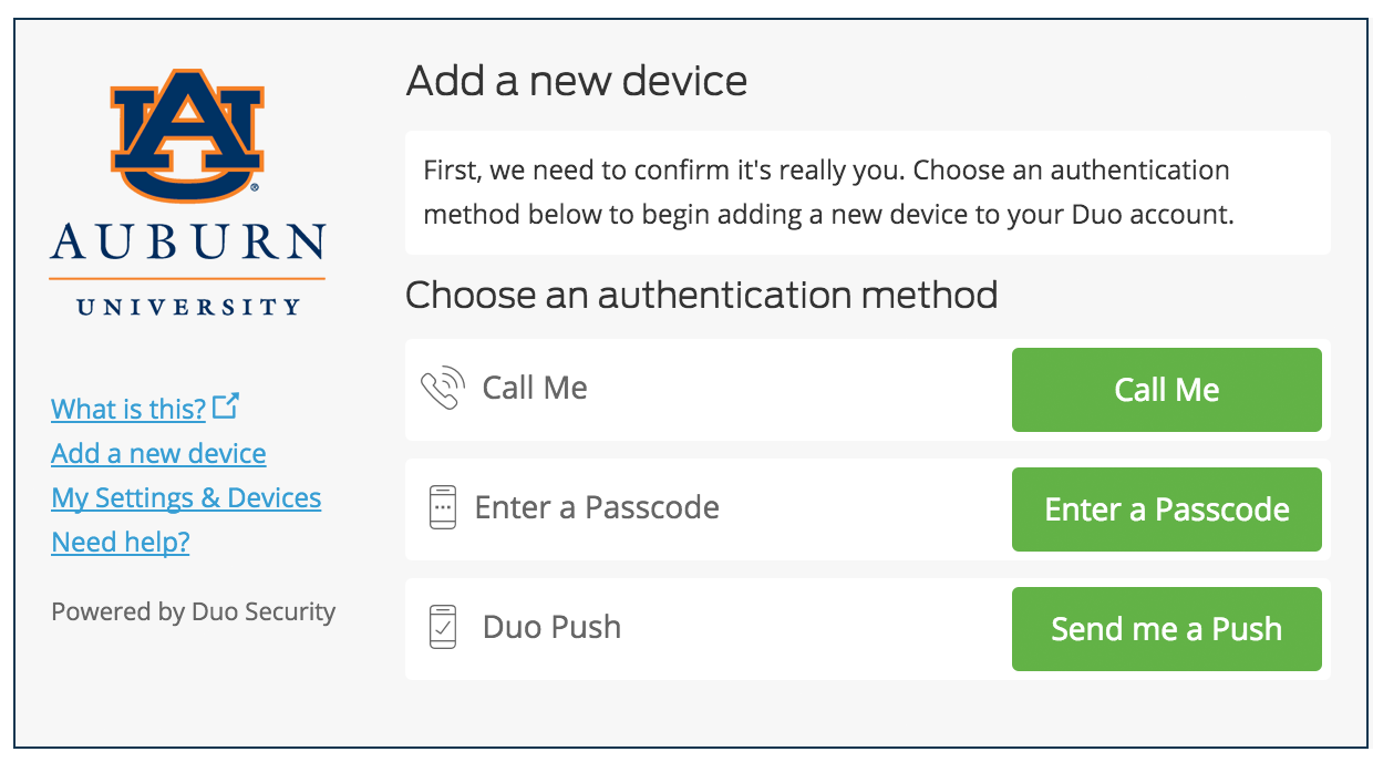 Authenticate to Add a Device