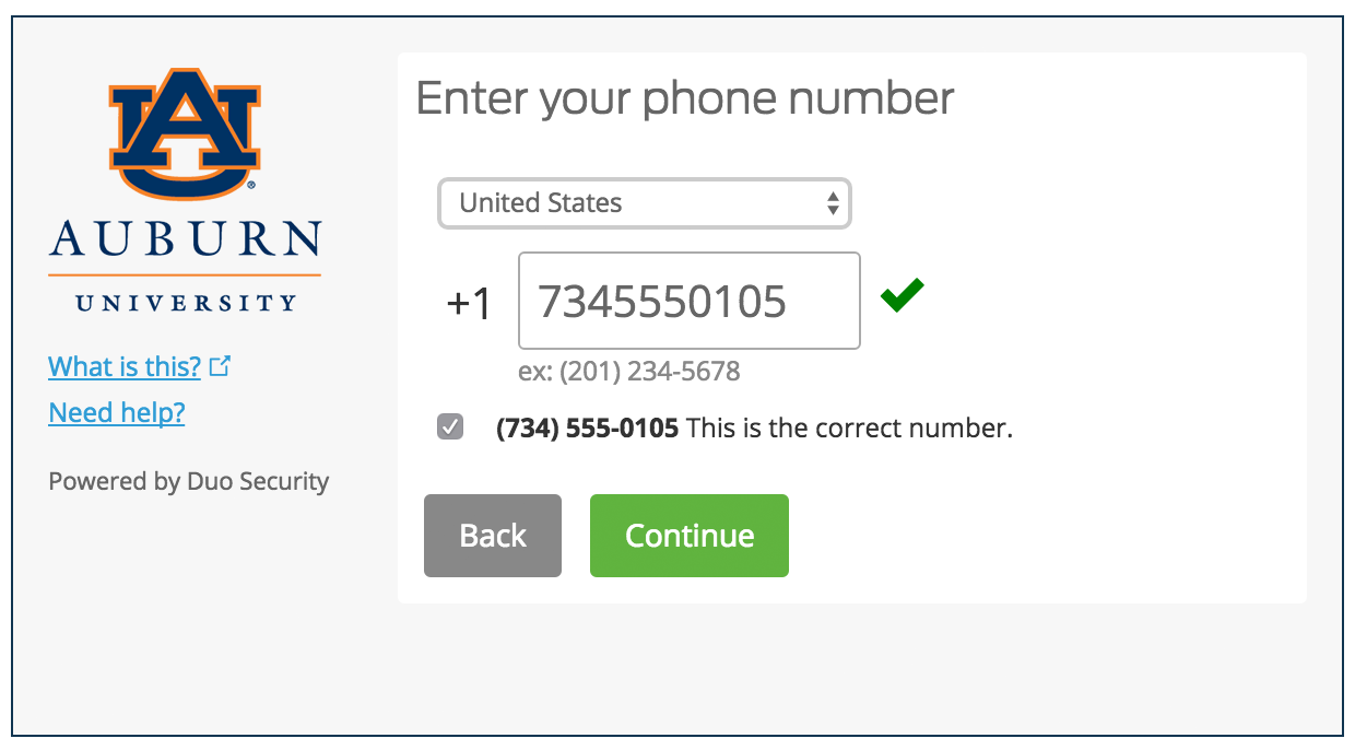 Enter and Confirm Phone Number