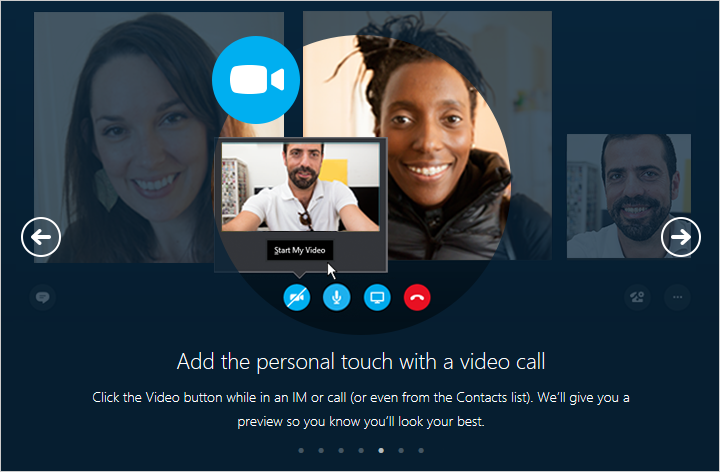 Click the Video button while in an IM or call (or even from the Contacts list).  We'll give you a preview so you know you'll look your best.
