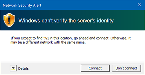 Network Security Alert for Windows
