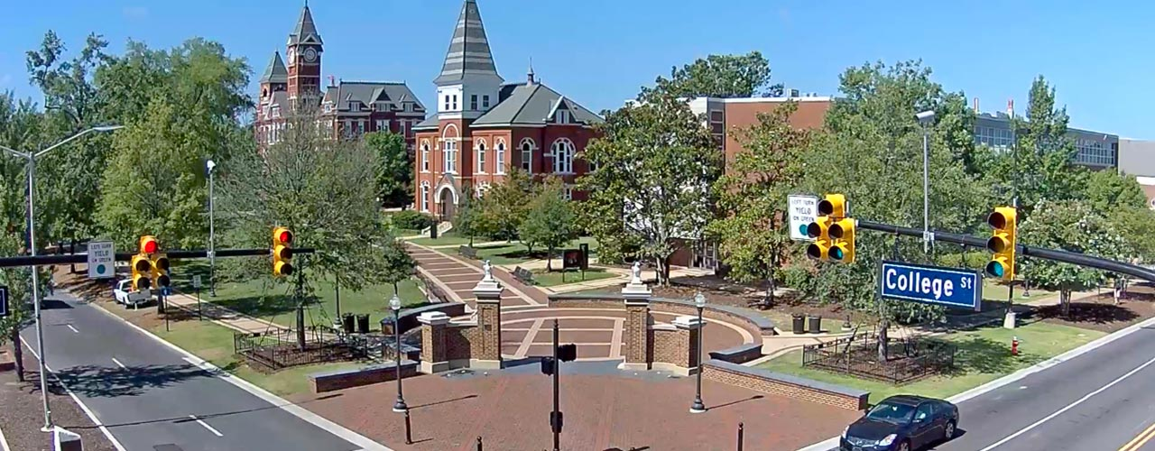 A still image of Toomer's Corner from the webcam.