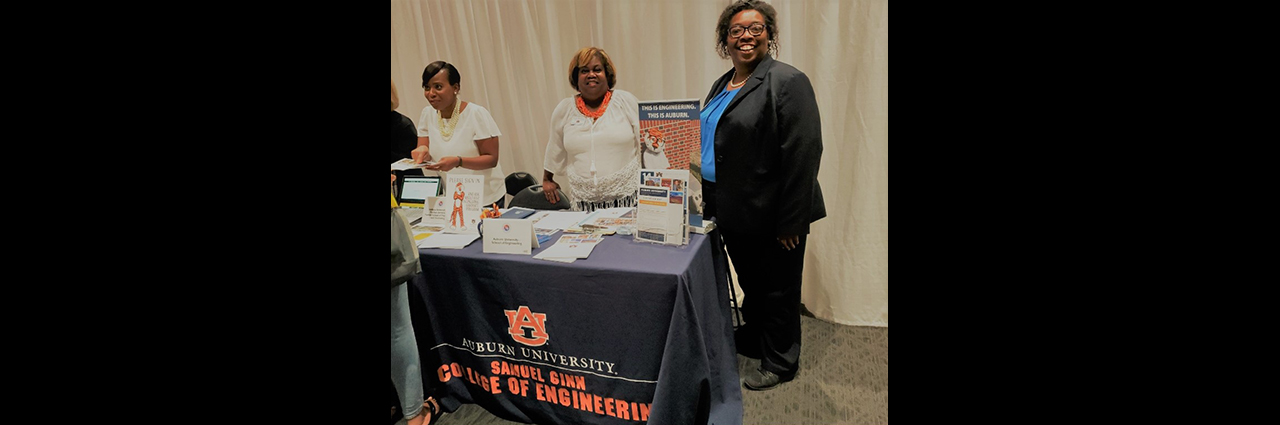 Dr. Cordelia Brown and other AU Staff engaged with over 40 students and most signed up to receive additional information with plans to schedule an on campus tour at the Atlanta University Center Consortium institutions (Clark Atlanta University, Morehouse College, Morehouse School of Medicine, and Spelman College) AUCC event at Clark Atlanta University, Atlanta, GA was a huge success.