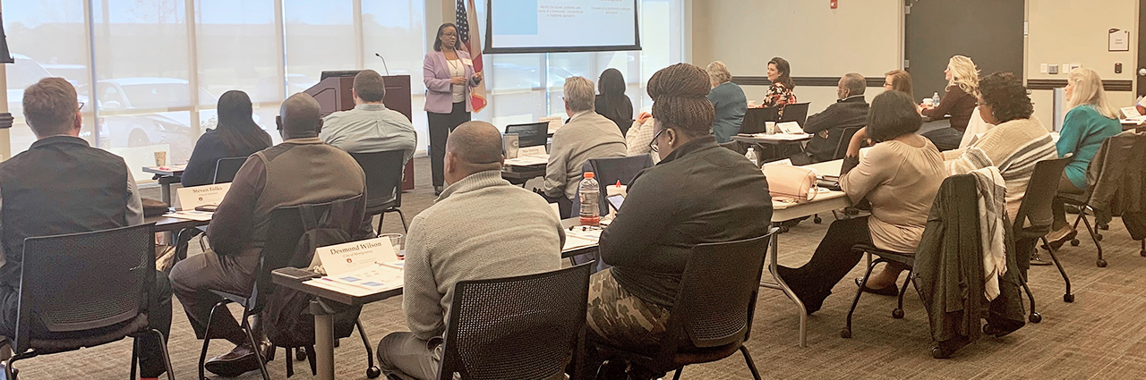 Our Interim Executive Director, Dr. LaKami Baker, is presenting Overview of Community Development for the ACCMA Public Management & Community Development course in Prattville, AL.