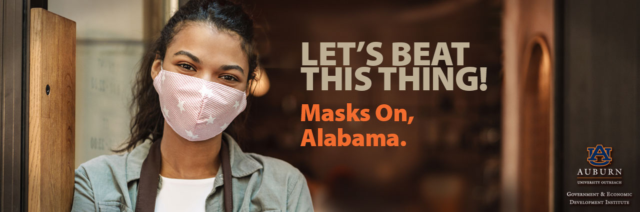 Let's Beat this thing - Masks on Alabama!