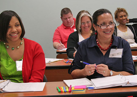 Professionals attend a continuing education course