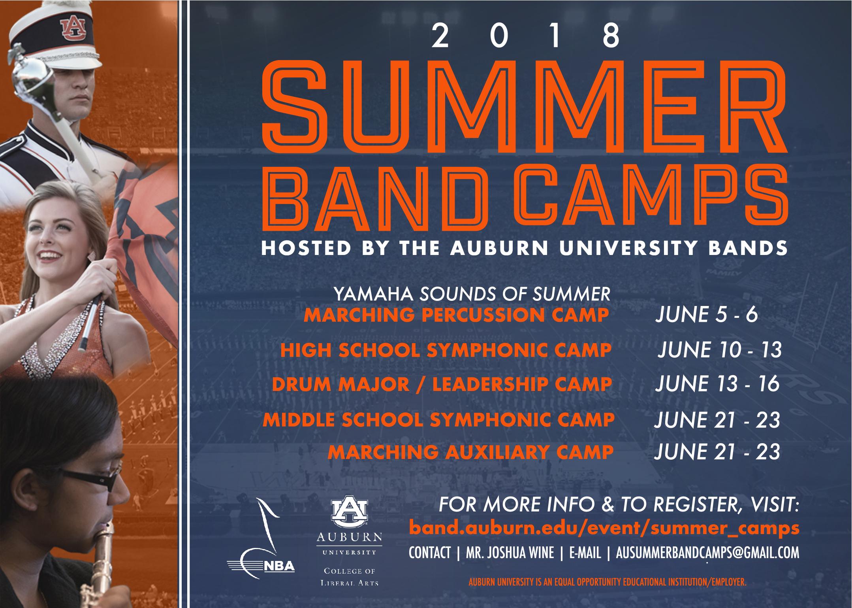 Summer Camps Friends Auburn University Bands