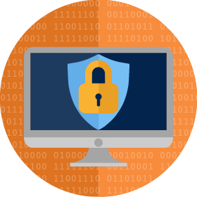 Cyber security icon image